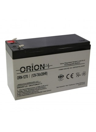 Orion ORN1270 12V 7.0 Ah Bakımsız Kuru Akü